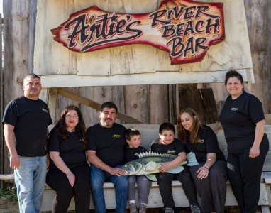 The Battimelli Family at Artie's Bar and Grill in Frenchtown, NJ