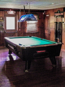 Pool table in Artie's Bar and Grill in Frenchtown NJ